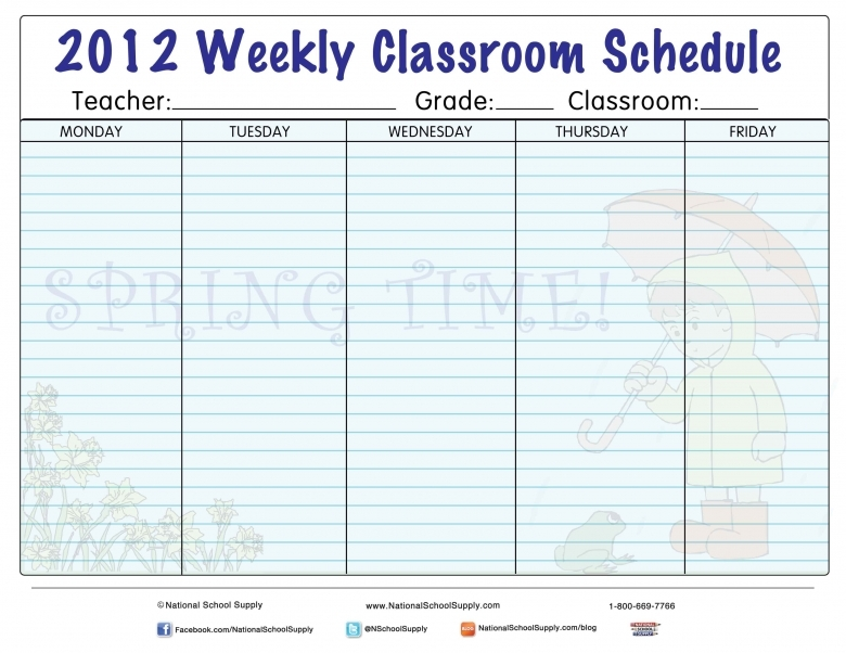 7 Best Images Of Printable Weekly Calendars For Teachers Monthly