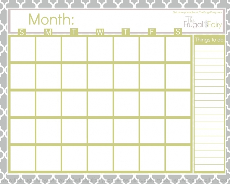 Blank Printable Calendar Monibak