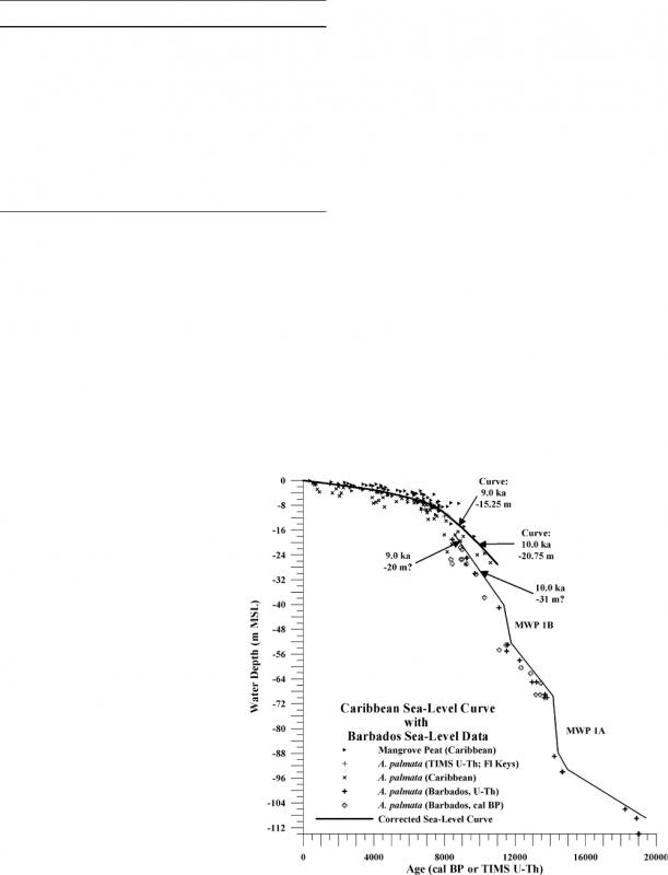 Corrected Western Atlantic Sea Level Curve For The Last 11000  xjb