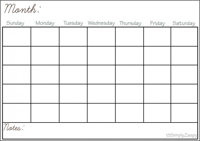 Diy Dry Erase Calendar Simply Zaspy