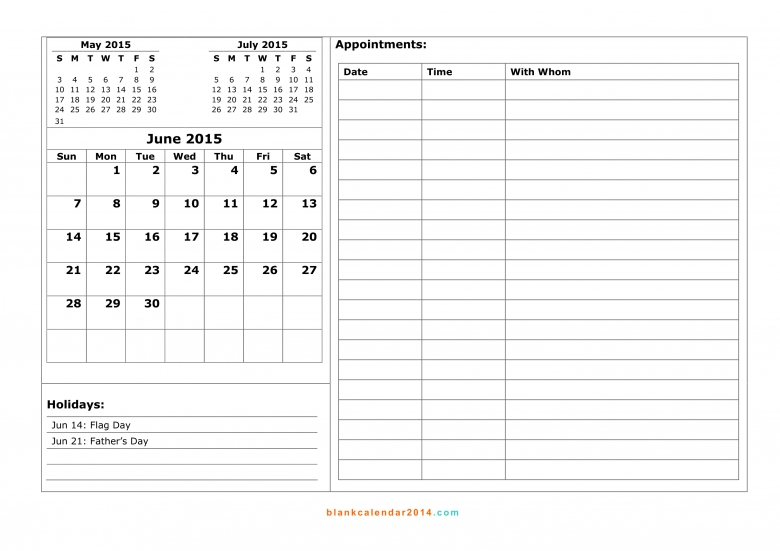 June 2015 Calendar Free Printable Calendar Templates