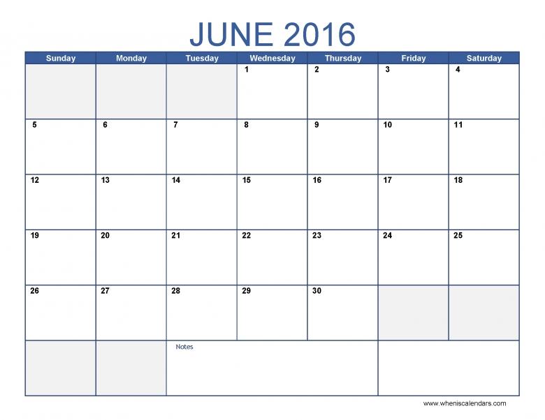 June 2016 Calendar Word Documents 3