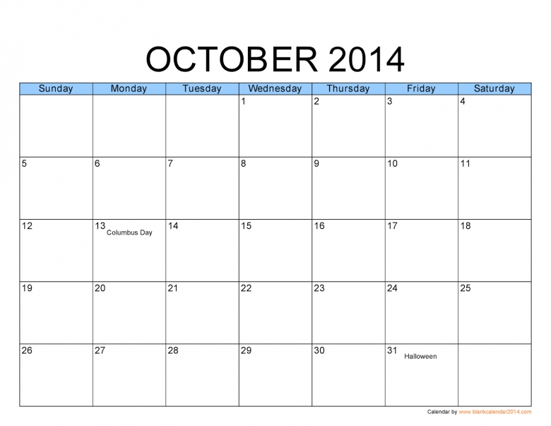 Large Print Calendar Printable