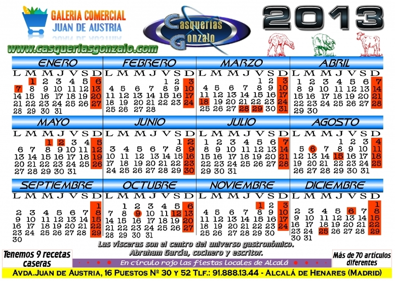 Productos De Casquera Nuevo Calendario 2013 De Casqueras Gonzalo
