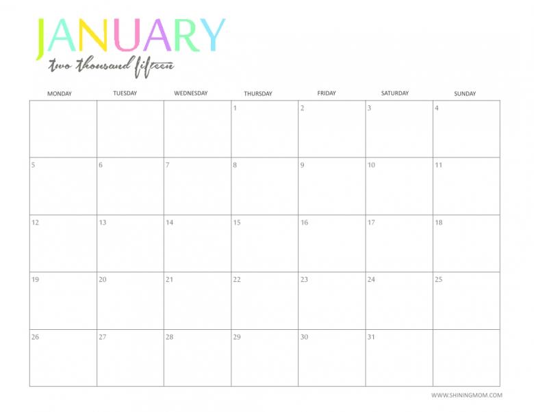 20 Free Printable Calendars 2015 Jaderbomb  xjb