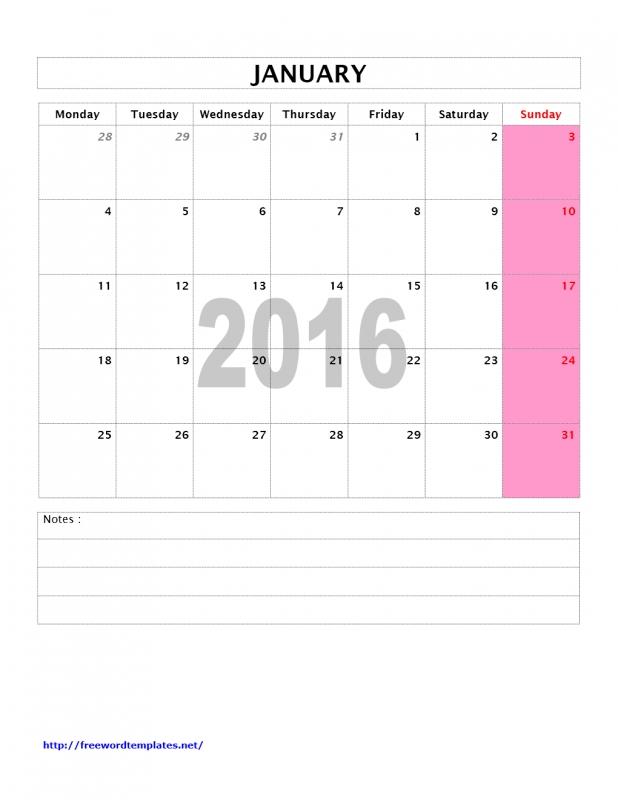2016 Calendar Templates Freewordtemplates3abry