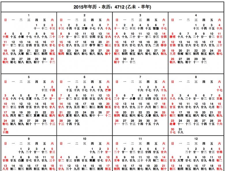 2016 Chinese Gender Calendar  xjb