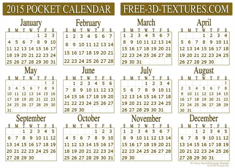 7 Best Images Of 2016 Pocket Calendar Free Printable Business  xjb
