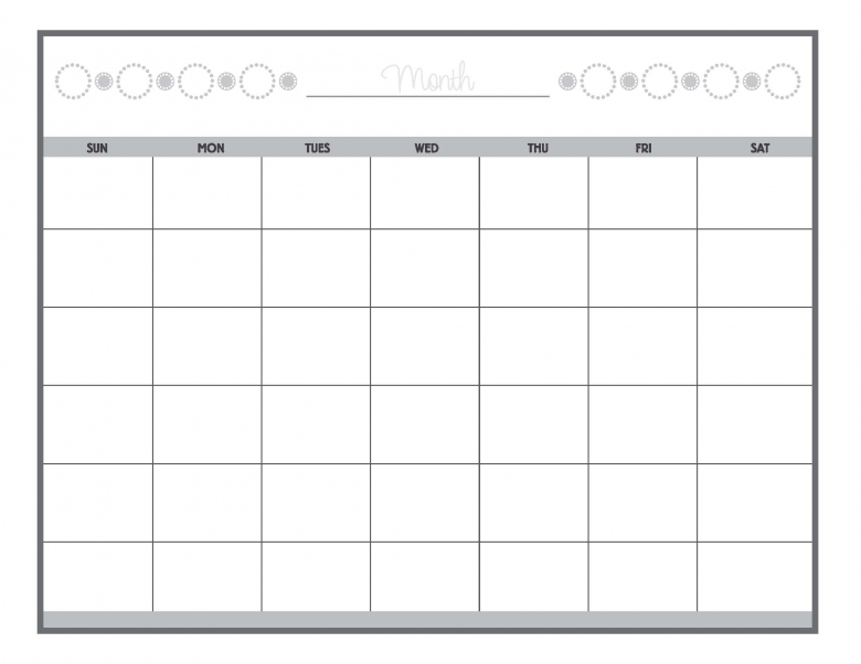 8 Best Images Of Free Printable Blank Calendar Sheets Printable3abry