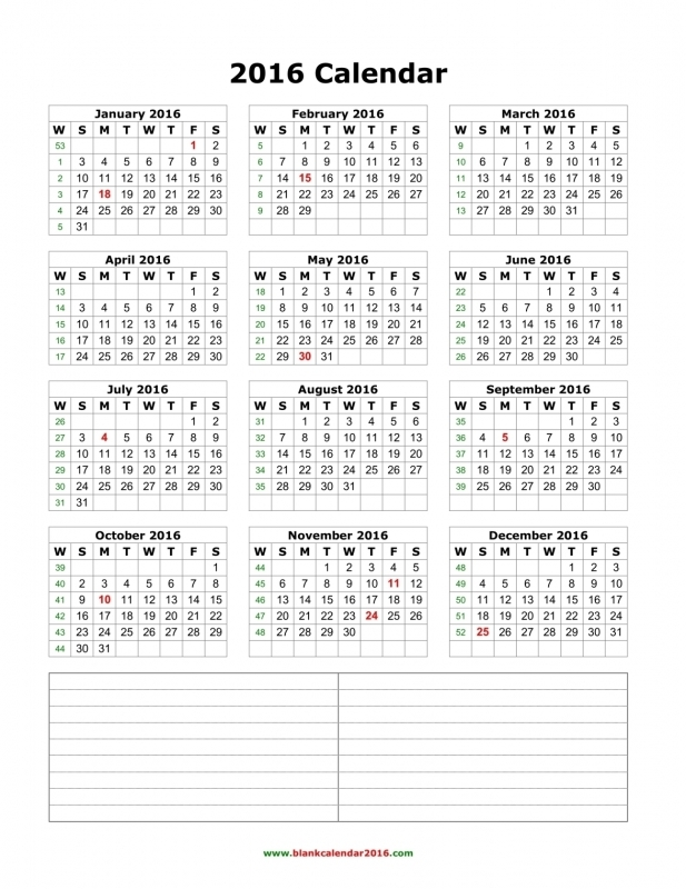 Blank Calendar 2016  xjb