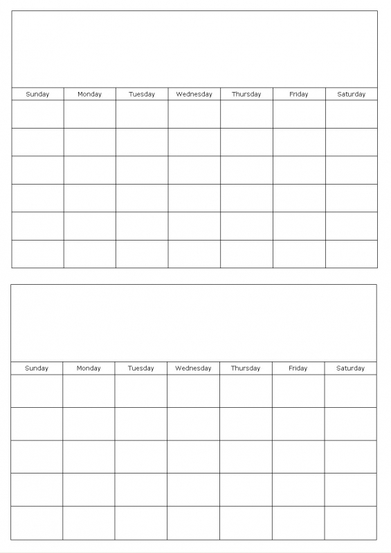 Blank Calendars To Fill In Calendar Grids To Edit And Type On3abry