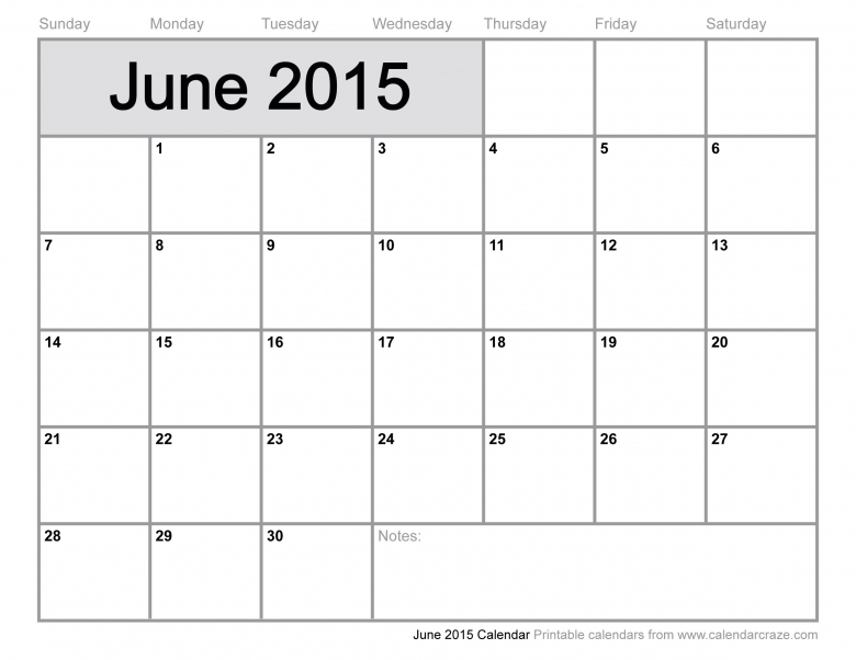 Check Out Blank June 2015 Calendar Printable Template Word Excel  xjb