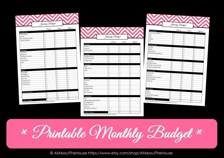 Printable Budget Calendar Free Calendar Template