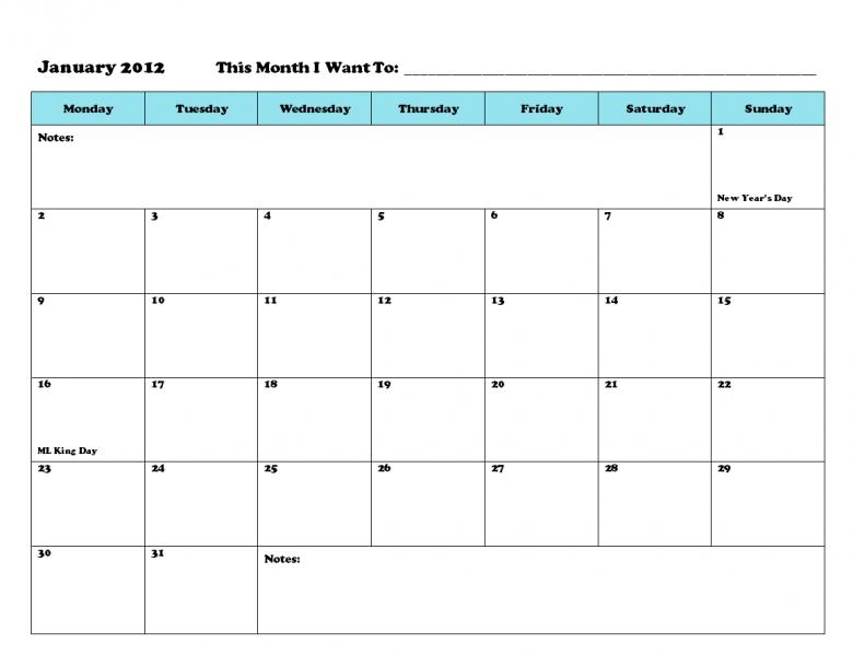 printable calendar that i can write on free calendar template