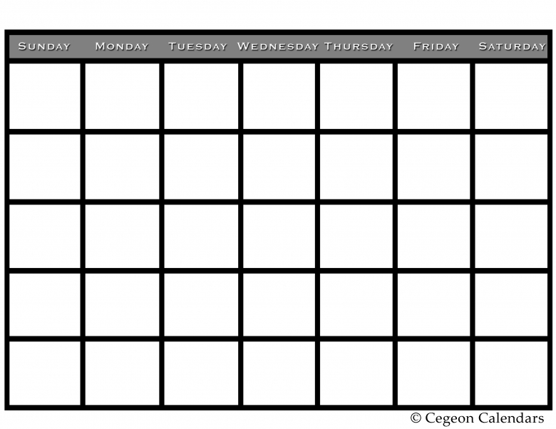 Get Your Free Printable Blank Calendar3abry
