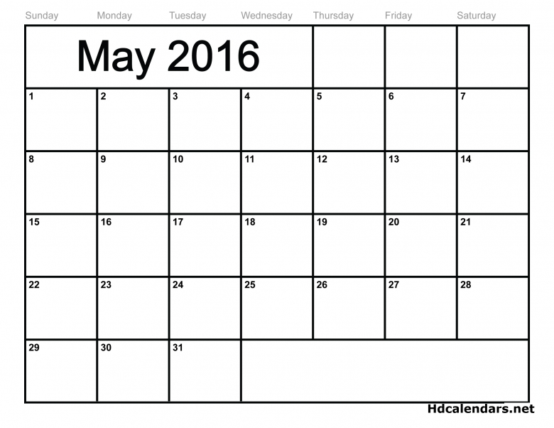 May 2016 Calendar Wincalendar 2  xjb