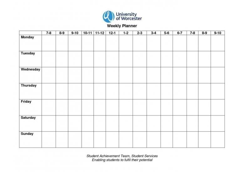 Monday Through Sunday Calendar Weeklyplannerwebsite3abry