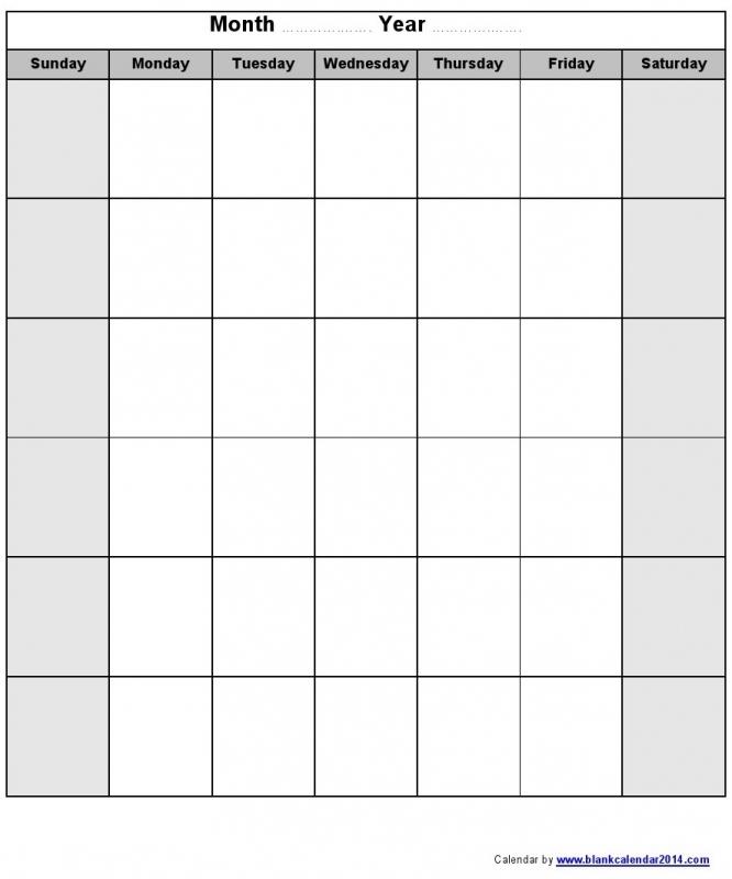 Monday Thru Sunday Calendar Free Calendar Template