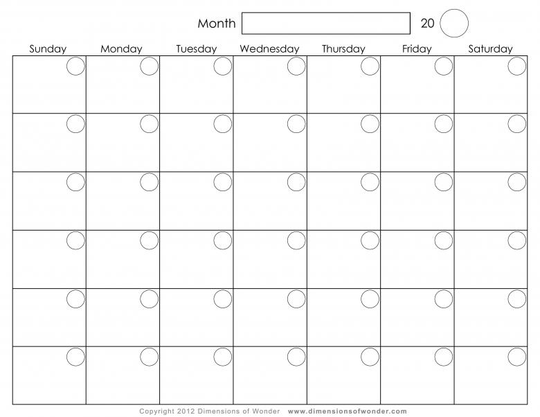 Monthly Printable Calendar3abry