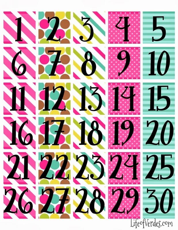 April Calendar Numbers For Preschool : June calendar numbers printable free template