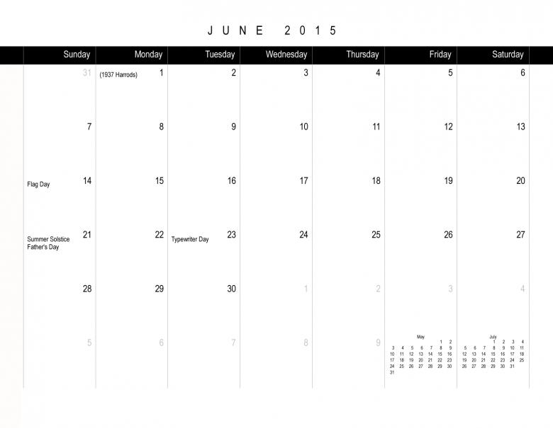 X Over It 2015 Typewriter Calendar Pre Order3abry