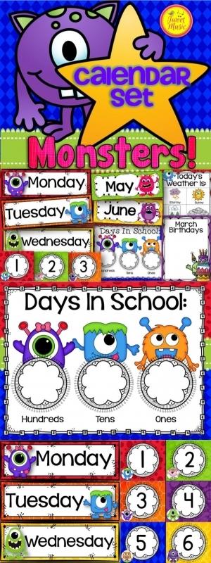 Calendar Name Ideas : Wise owl factory calendar headers free template
