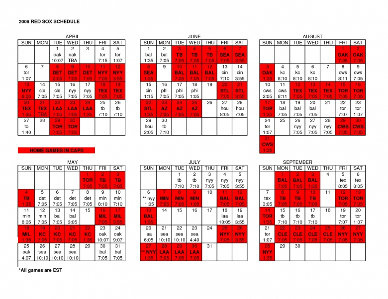 2014 Mlb Printable Schedule3abry