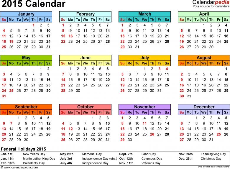 2015 Calendar Pdf 16 Free Printable Calendar Templates For Pdf3abry