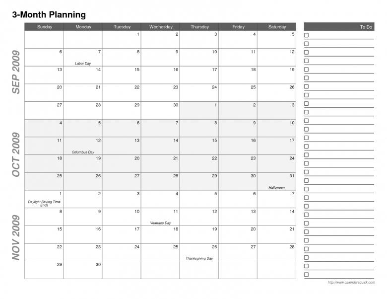 Month Calendar Printable :-Free Calendar Template