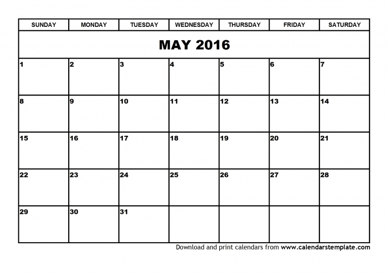 2016 Calendar For May And June Free Calendar 2017  xjb