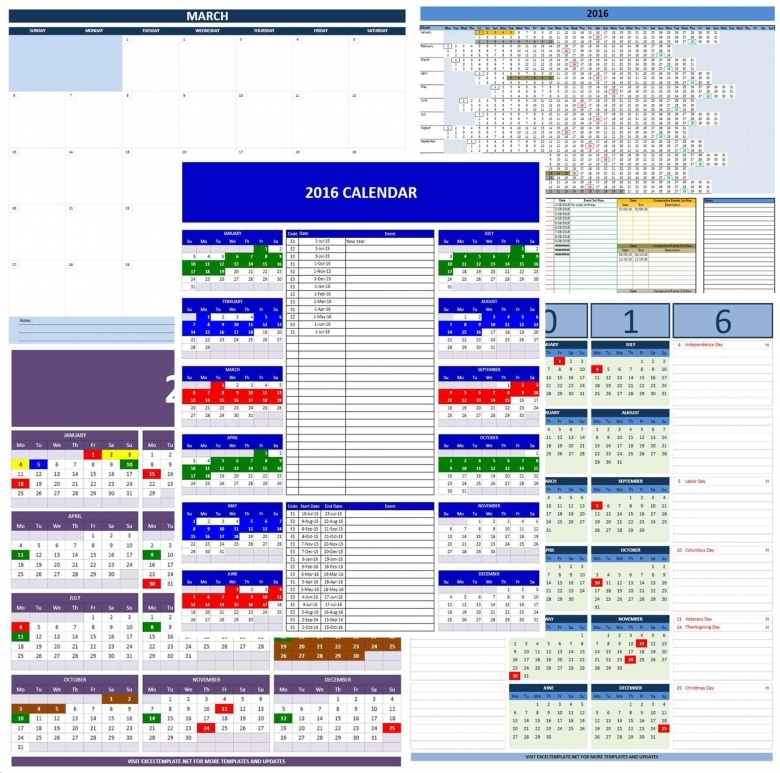 Dynamic Calendar Excel Template Free Calendar Template
