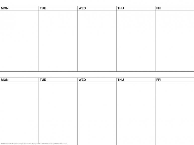 339 X 439 5 Day 2 Week Dry Erase Magnetic Calendarmagnet Kit Nnw534m  xjb