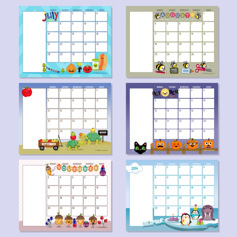 Preschool Calendar Template The Crafty Teacher August Printable