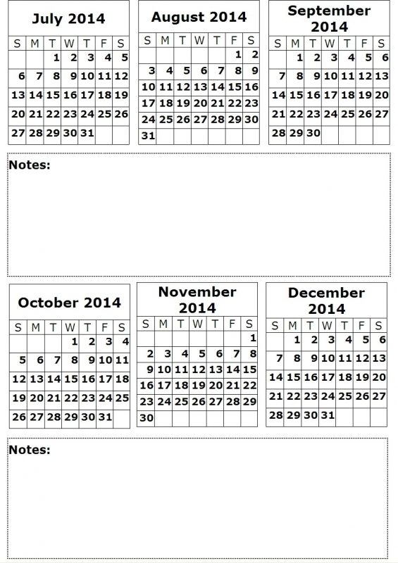 8 Best Images Of 6 Month Calendar Printable 2016 Printable 20153abry