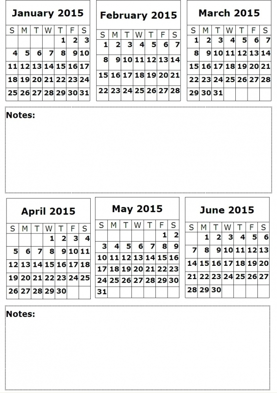 8 Best Images Of 6 Month Planner Calendar 2016 Printable One Page3abry