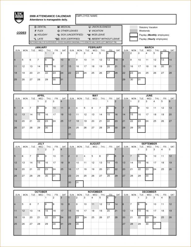 9 Attendance Calendar Verification Letters Pdf 89uj