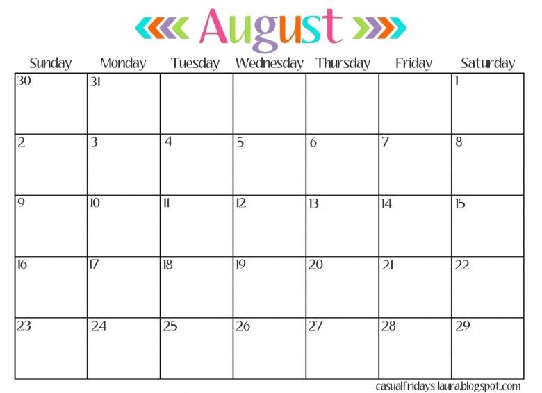 August 2016 Calendar Editable Monthly Calendar Printable  xjb