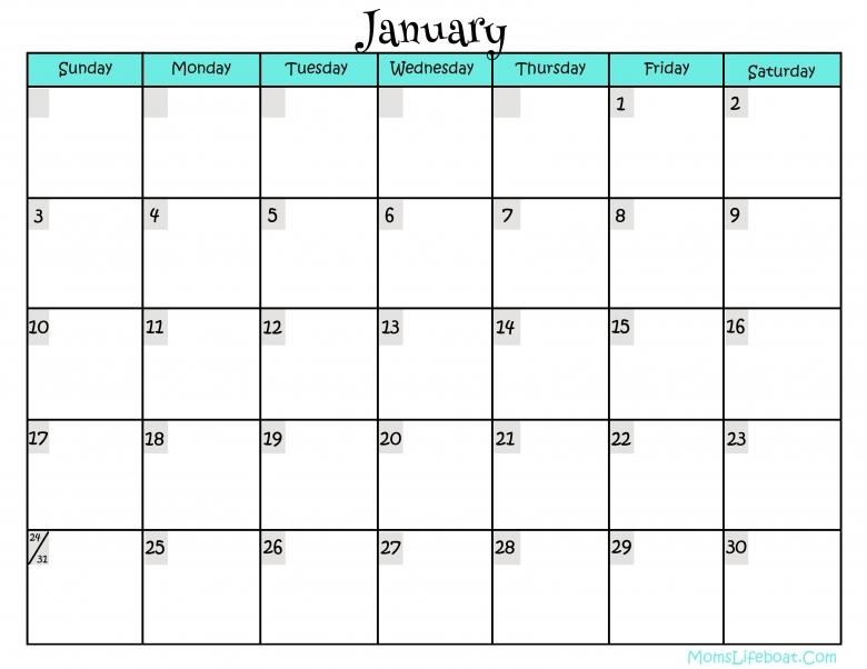 Free Calendar Printables3abry