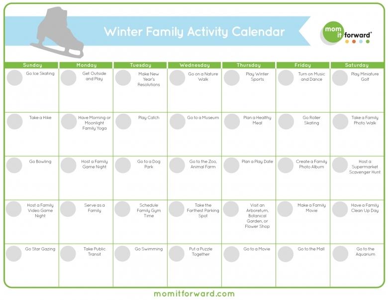 Free Printable Winter Family Activity Calendar Mom It 89uj