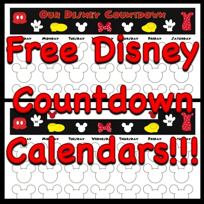 Printable Countdown Calendar For Disney Trip