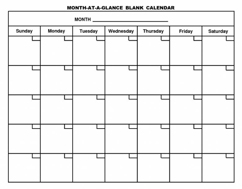 Printable Calendar Template3abry