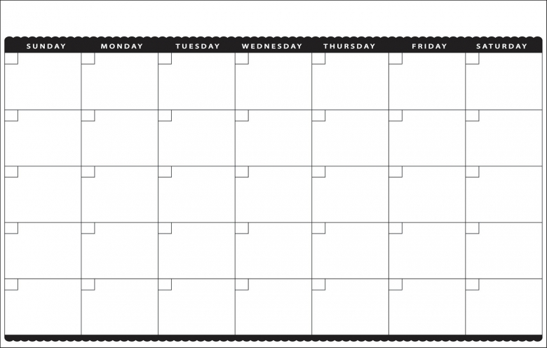 11x17 Peel And Stick Dry Erase Cute Blank Monthly Decoboards3abry