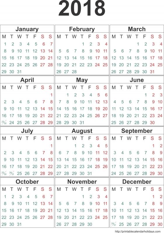 2018 Yearly Calendar Archives Free Printable Calendar 2016 89uj