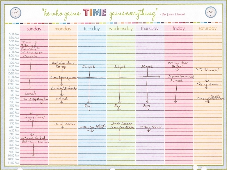 Weekly Calendar With Time Slots Excel : Blank daily calendar with time slots free template