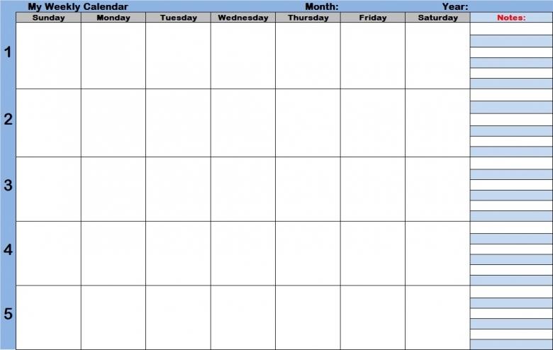 9 Best Images Of Printable Blank Weekly Time Slots Calendar  xjb