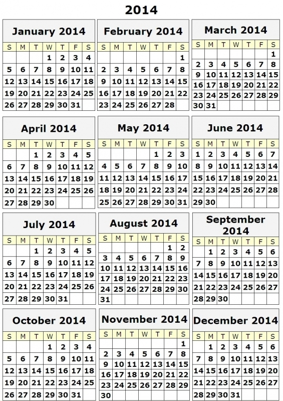 Best Photos Of 12 Month Calendar Print Out Free Printable 20153abry