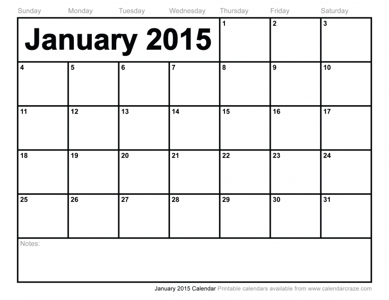 Best Photos Of Giant Calendar Template January 2015 January 2015  xjb