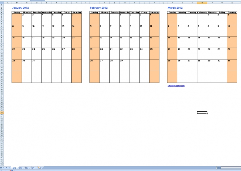 Best Photos Of Printable Quarterly Calendar Templates Free3abry