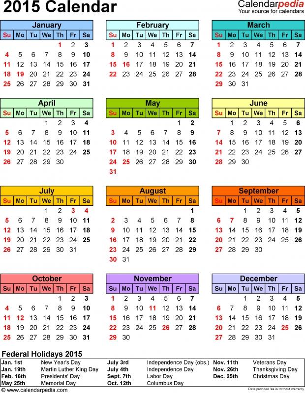 Printable 2015 Calendar  xjb