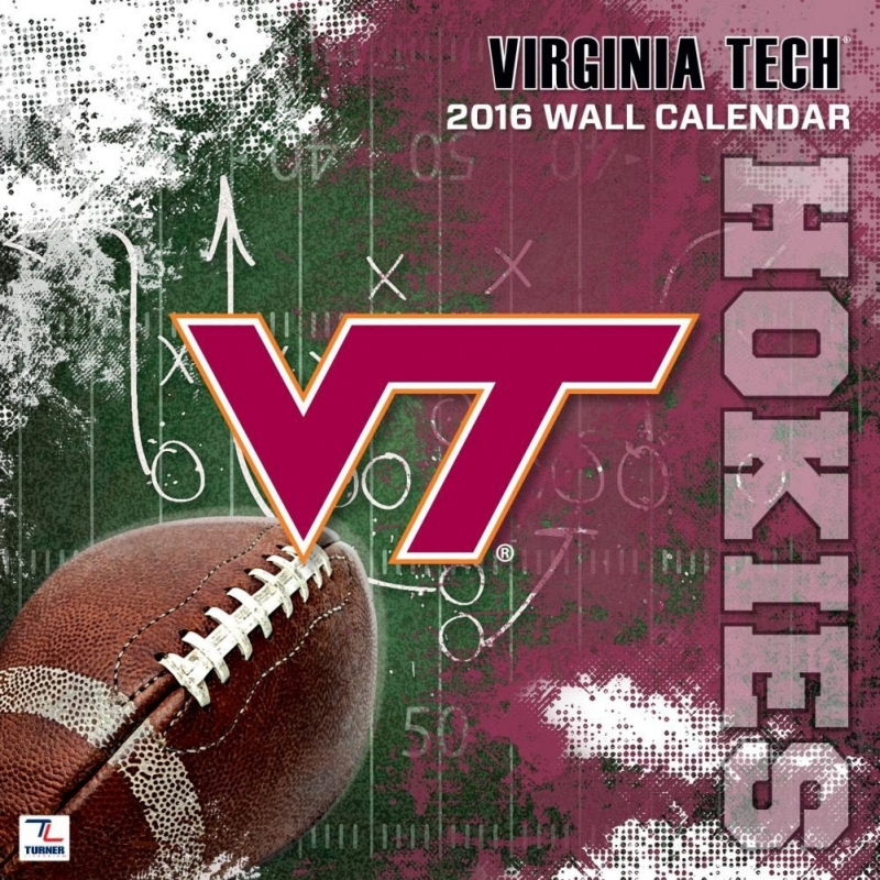 Virginia Tech Hokies 2016 Wall Calendar 9781469326603  xjb